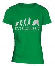 Ice Hockey Goalkeeper Evolution Ladies T-Shirt
