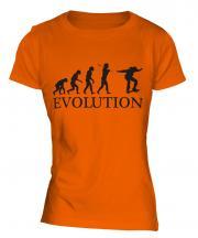 Skateboarder Evolution Ladies T-Shirt