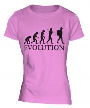 Backpacker Evolution Ladies T-Shirt