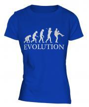 Baseball Pitcher Evolution Ladies T-Shirt