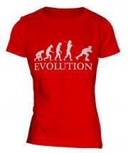 Roller Blading Evolution Ladies T-Shirt