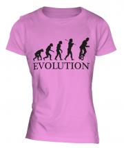 Unicyclist Evolution Ladies T-Shirt