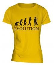 Circus Wire Walker Evolution Ladies T-Shirt