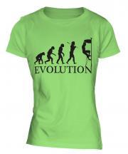 Rock Climbing Evolution Ladies T-Shirt