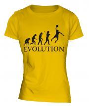 Basketball Slam Dunk Evolution Ladies T-Shirt