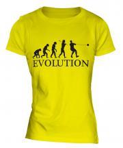 Hammer Throw Evolution Ladies T-Shirt