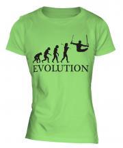 Gymnastics Rings Evolution Ladies T-Shirt
