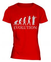 Trumpet Player Evolution Ladies T-Shirt