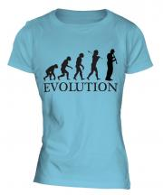 Clarinet Player Evolution Ladies T-Shirt