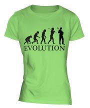 Jazz Guitarist Evolution Ladies T-Shirt