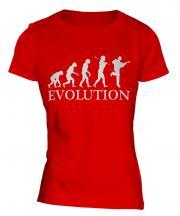 Acoustic Guitarist Evolution Ladies T-Shirt