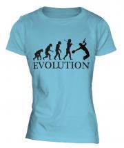 Jazz Trumpet Player Evolution Ladies T-Shirt