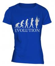 Bagpipes Player Evolution Ladies T-Shirt