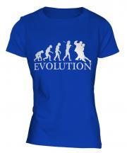 Tango Dancing Evolution Ladies T-Shirt