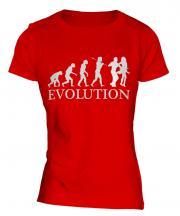 Salsa Dancing Evolution Ladies T-Shirt