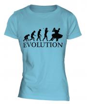 Foxtrot Dancing Evolution Ladies T-Shirt