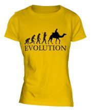 Camel Riding Evolution Ladies T-Shirt