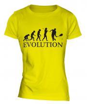 Squash Player Evolution Ladies T-Shirt