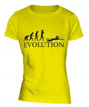 Swimmer Evolution Ladies T-Shirt