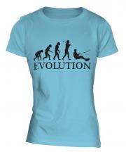 Water Skiing Evolution Ladies T-Shirt