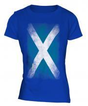 Scotland Faded Flag Ladies T-Shirt