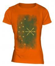 Adygea Faded Flag Ladies T-Shirt