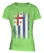 Ajaria Faded Flag Ladies T-Shirt