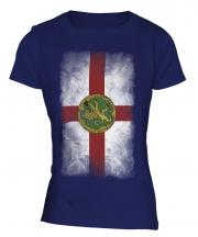 Alderney Faded Flag Ladies T-Shirt