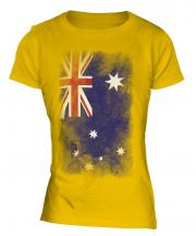 Australia Faded Flag Ladies T-Shirt
