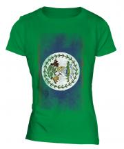 Belize Faded Flag Ladies T-Shirt
