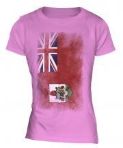 Bermuda Faded Flag Ladies T-Shirt