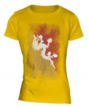 Bhutan Faded Flag Ladies T-Shirt