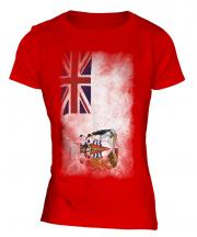 British Antartic Territory Faded Flag Ladies T-Shirt