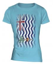 British Indian Ocean Territory Faded Flag Ladies T-Shirt