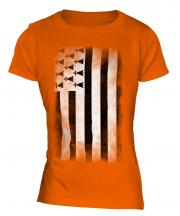 Brittany Faded Flag Ladies T-Shirt