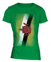 Brunei Faded Flag Ladies T-Shirt