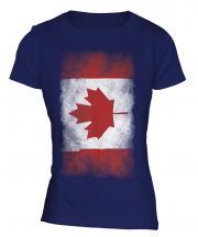 Canada Faded Flag Ladies T-Shirt