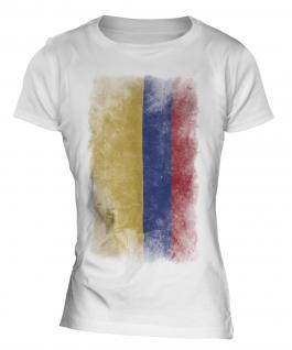 Colombia Faded Flag Ladies T-Shirt