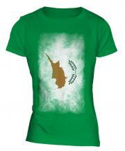 Cyprus Faded Flag Ladies T-Shirt