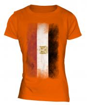 Egypt Faded Flag Ladies T-Shirt