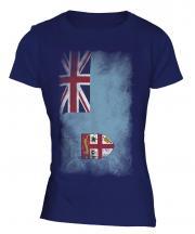 Fiji Faded Flag Ladies T-Shirt