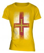 Guernsey Faded Flag Ladies T-Shirt