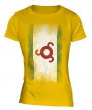 Ingushetia Faded Flag Ladies T-Shirt
