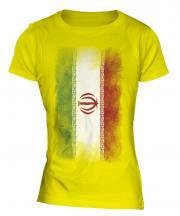 Iran Faded Flag Ladies T-Shirt