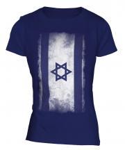 Israel Faded Flag Ladies T-Shirt