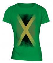 Jamaica Faded Flag Ladies T-Shirt