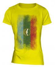 Karachay-Cherkessia Faded Flag Ladies T-Shirt