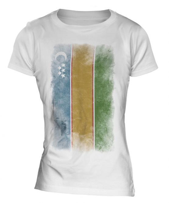 Karakalpakstan Faded Flag Ladies T-Shirt