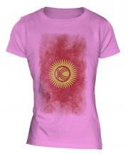 Kyrgyzstan Faded Flag Ladies T-Shirt