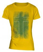 Ladonia Faded Flag Ladies T-Shirt